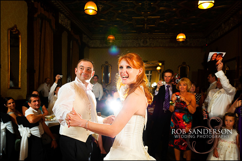 bride and groom have fun with their first dance