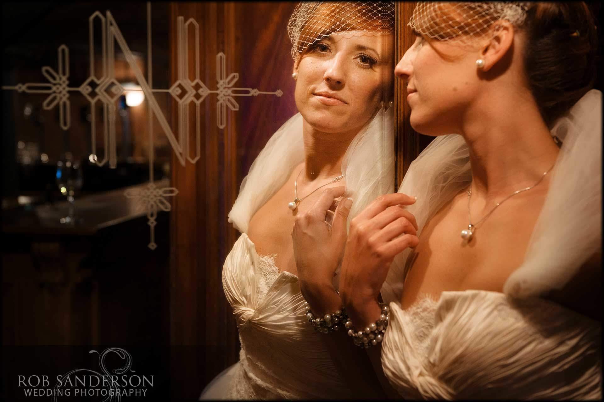 cool bridal portrait