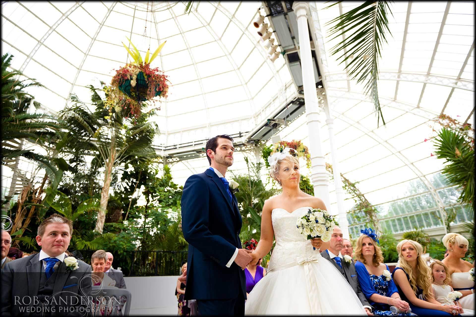 Sefton Palm house wedding ceremony