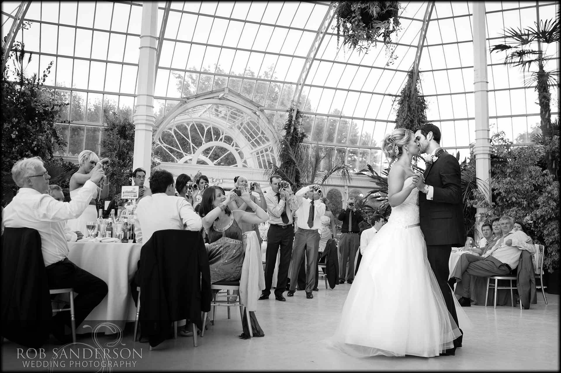 wedding first dance in the palm house