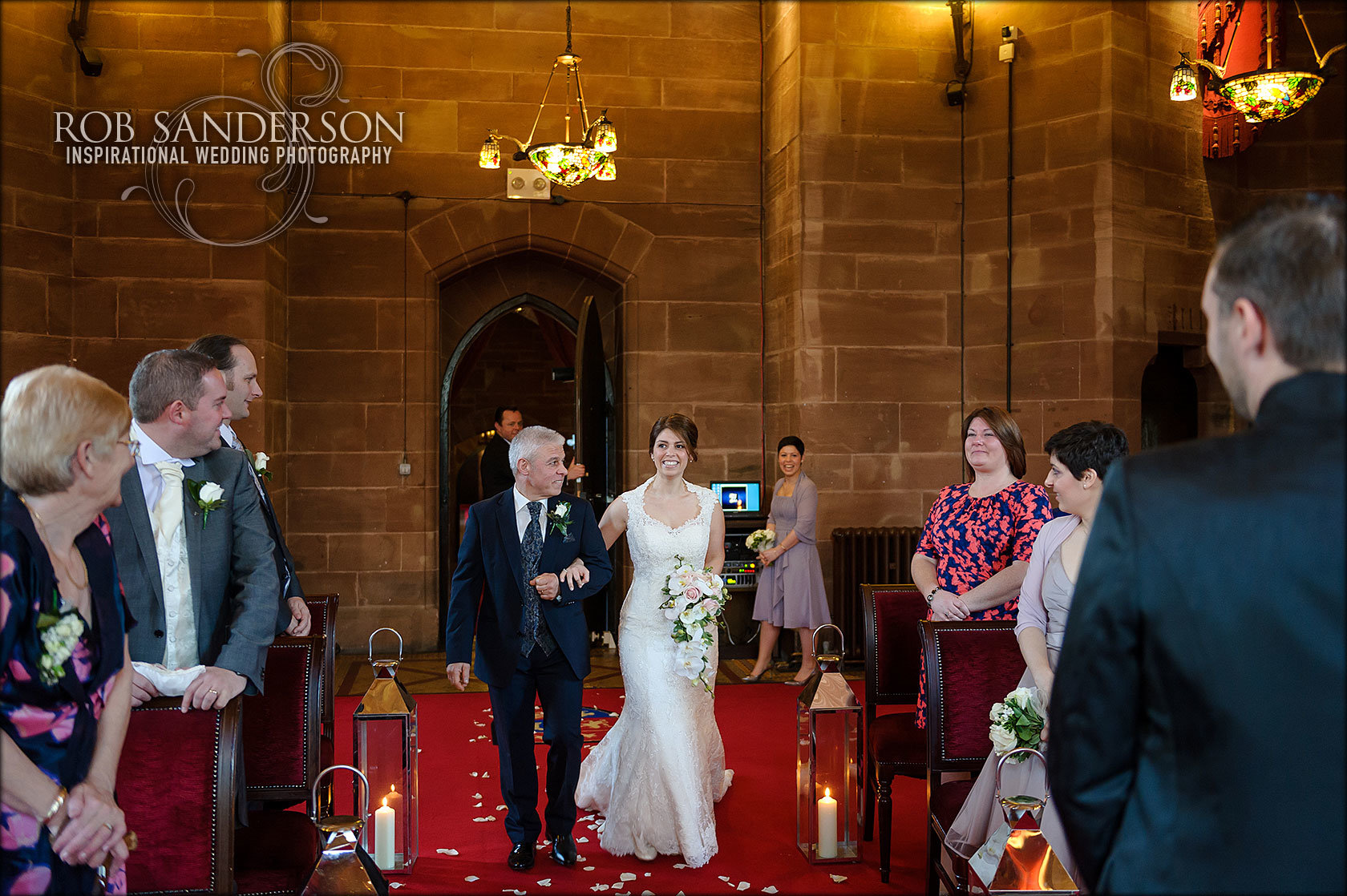 Wedding shots of Peckforton Castle