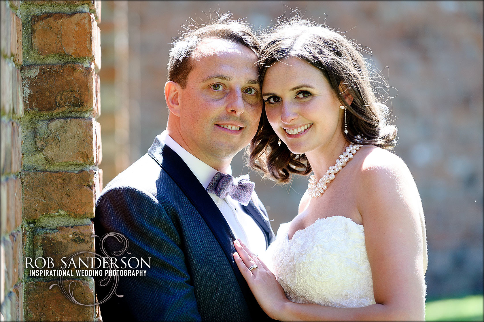 beautiful wedding picture at Meols hall