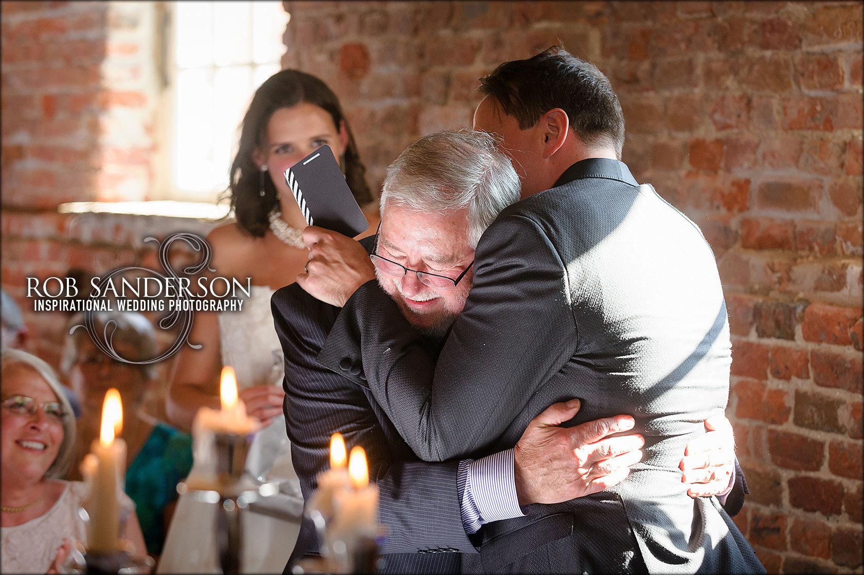 emotional wedding moment at Meols hall