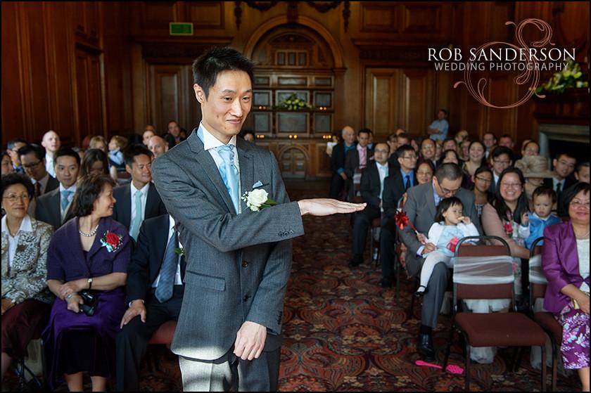 nervous groom at Croxteth Hall