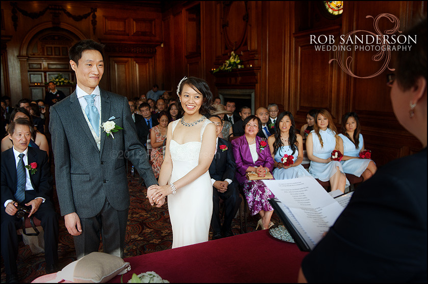 Croxteth Hall bride and groom