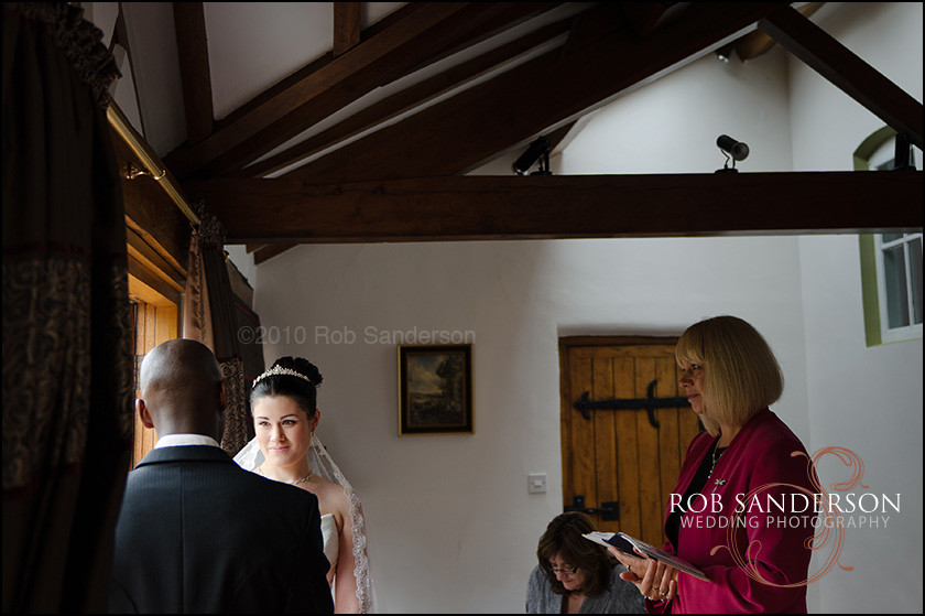 Haslington Hall wedding ceremony photographs
