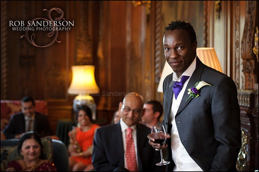 Cool groom at Knowsley Hall, Liverpool