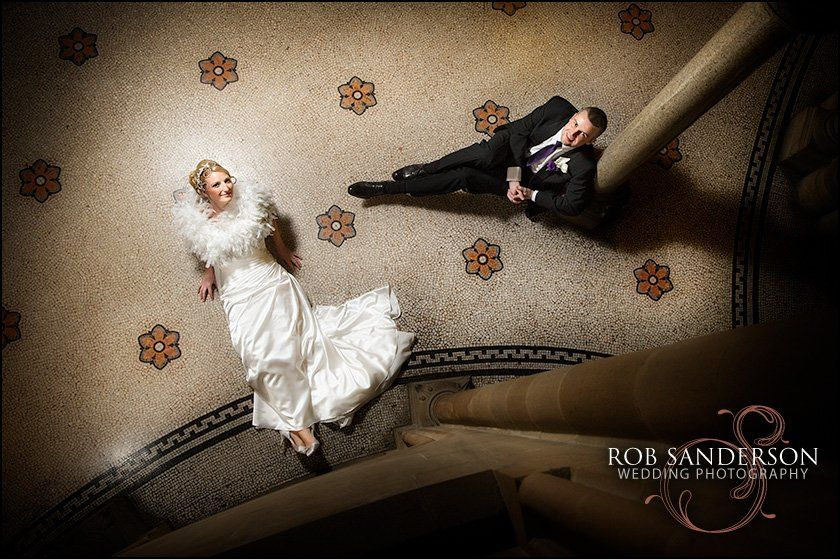 Cool wedding pic at Manchester Town Hall