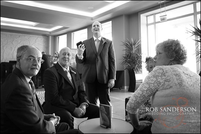 groom at Midland Hotel Morecambe