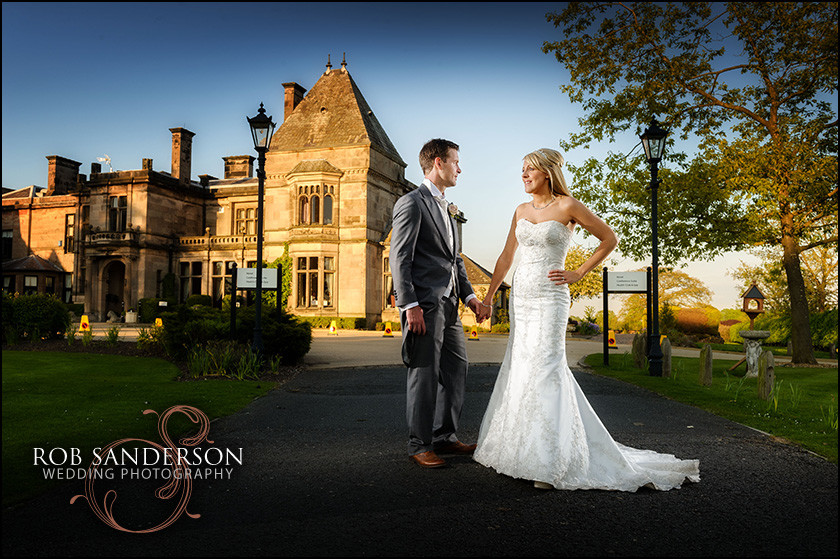 Wedding photographer at Rookery Hall in Cheshire