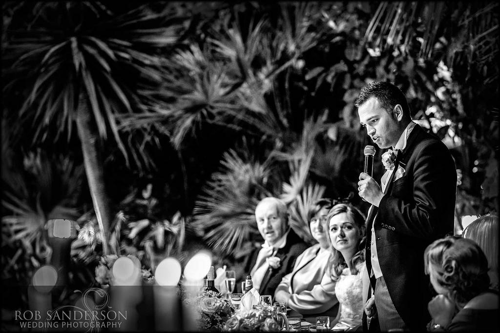 Evening wedding speeches