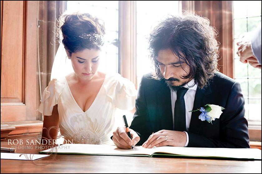 wedding in Thornton Manor