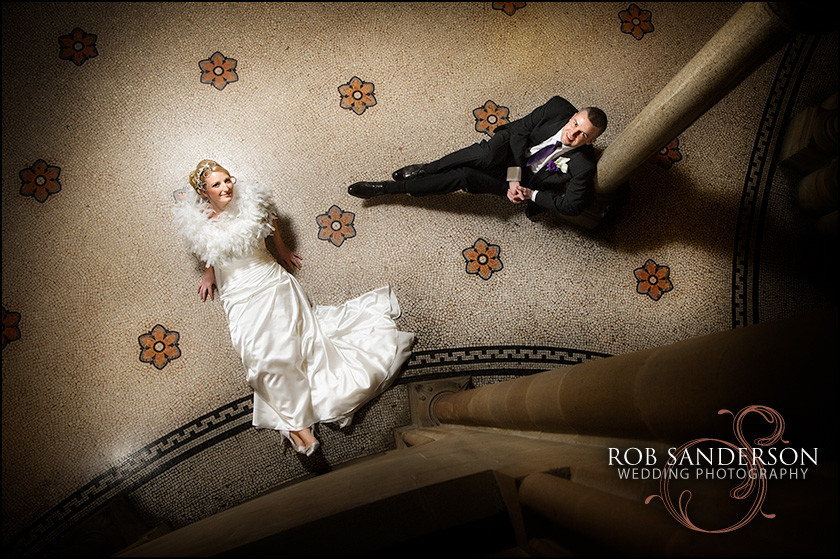 stunning wedding image inside Manchester Town Hall
