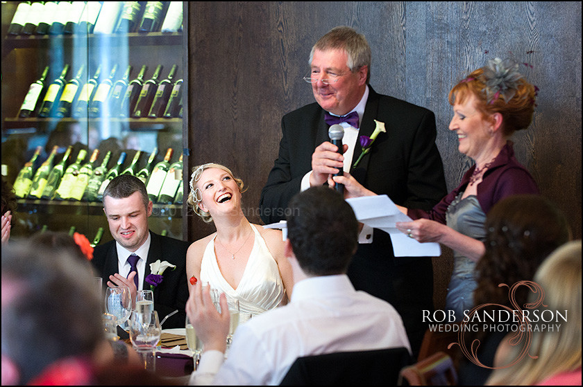 Father and mother of the bride give speech