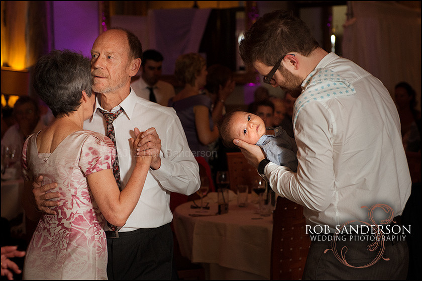 wedding dance floor with the old and the new born