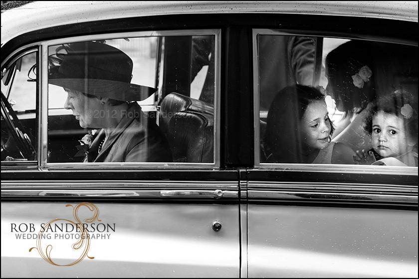Bridal car arrives at Tatton Park