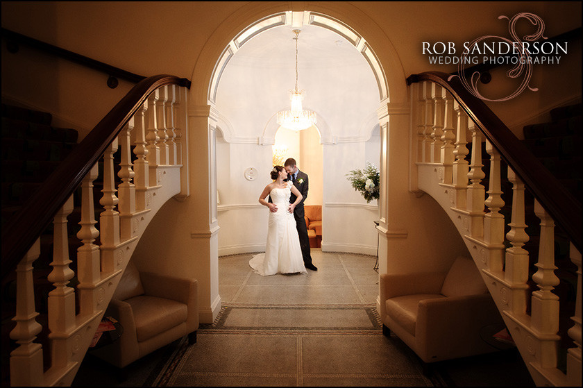 the Leverhulme Hotel wedding photo