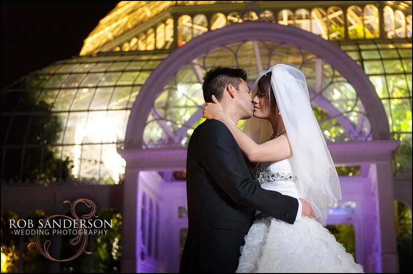 Palm House Liverpool winter wedding