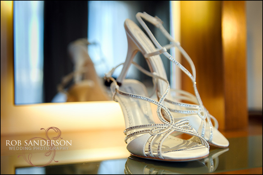 wedding shoes at Liverpool Hilton
