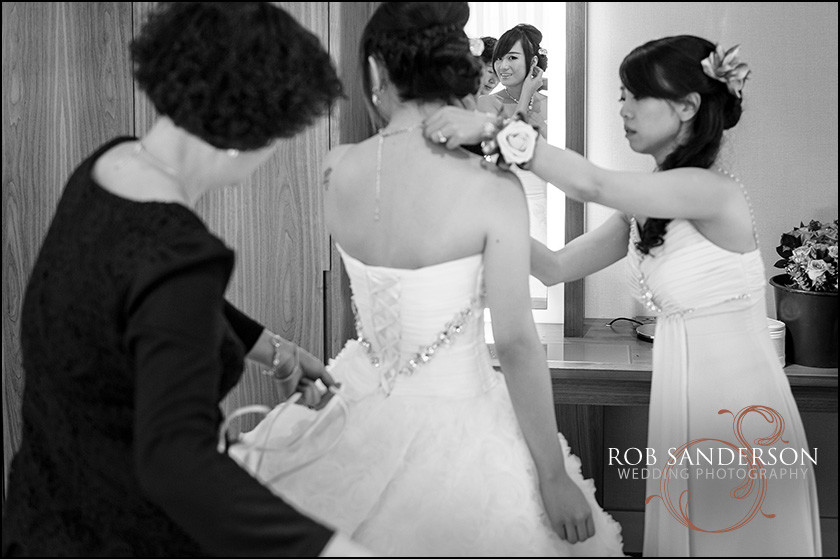 bridal preps at Hilton Liverpool