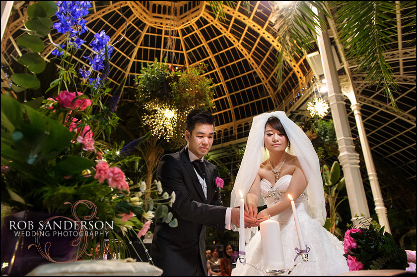 wedding ceremony Sefton Palm House
