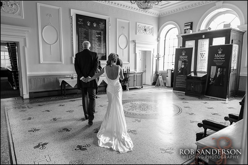 classic wedding photo Warrington Town Hall