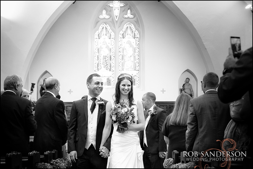 beautiful wedding pic at St Winifreds Neston Cheshire