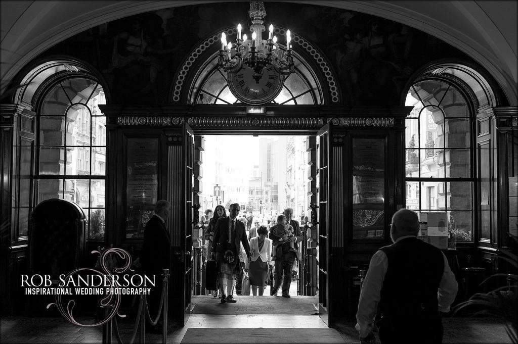 wedding party enter Liverpool Town Hall