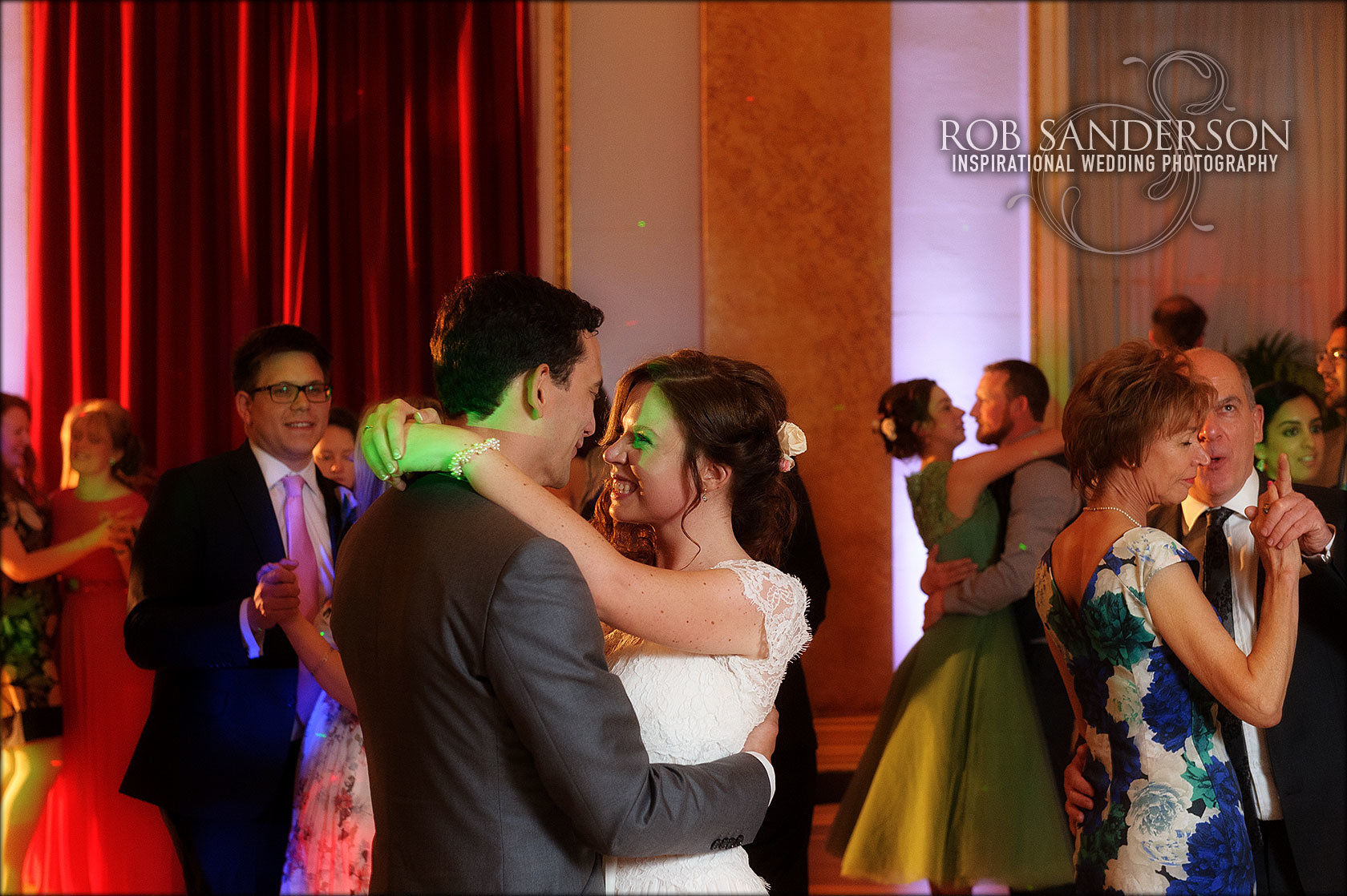 the first dance in the Town Hall ballroom