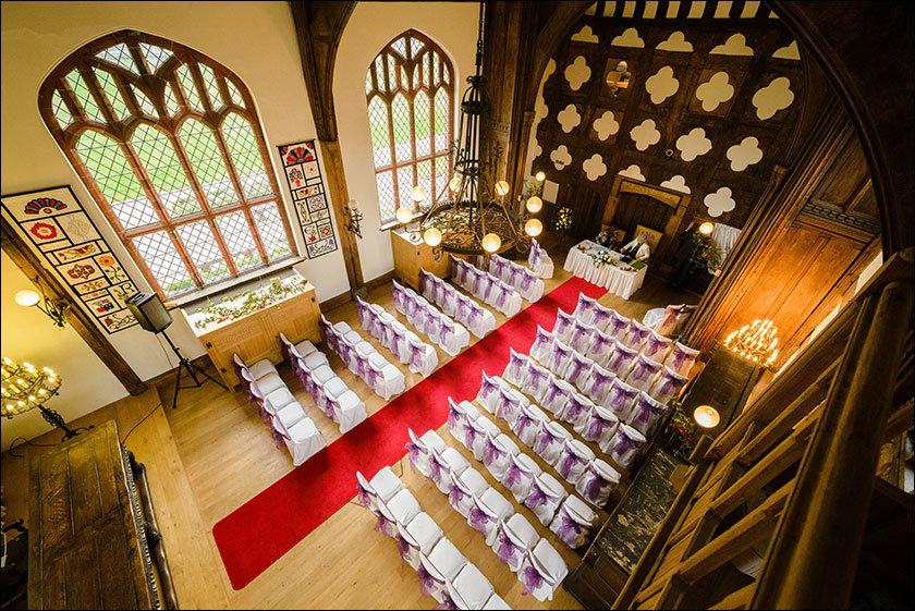 Ordsall Hall set up for a wedding
