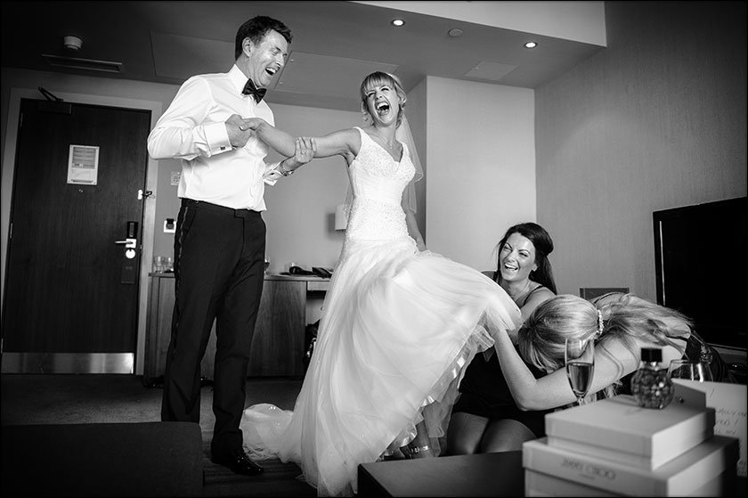 awesome wedding pic at Hilton Liverpool