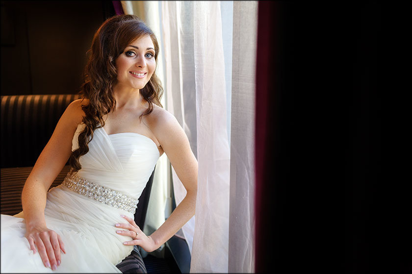 bridal portrait at Malmaison hotel Liverpool