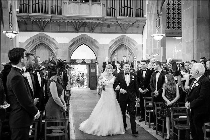 bride at Saint Nicholas Church liverpool