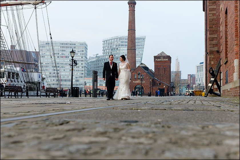 wedding pic at Liverpool Maritime Museum