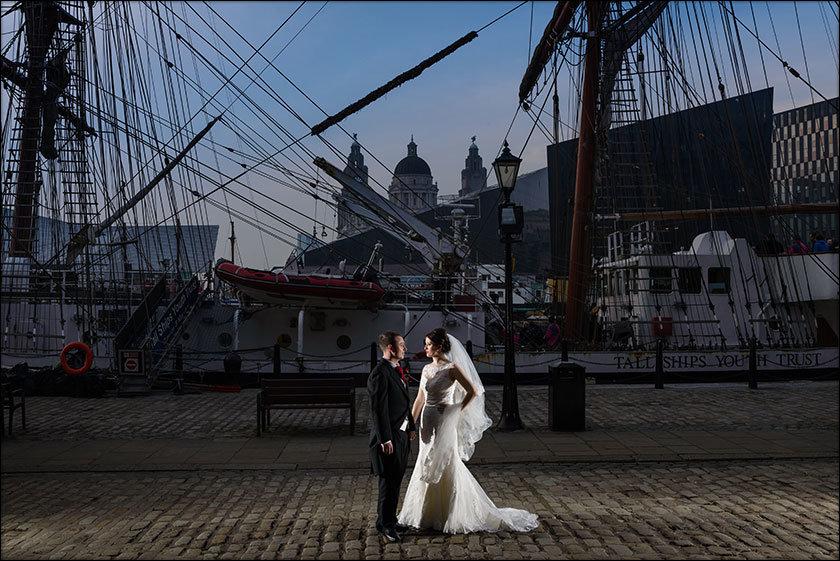 wedding at Liverpool Maritime Museum Albert dock Liverpool