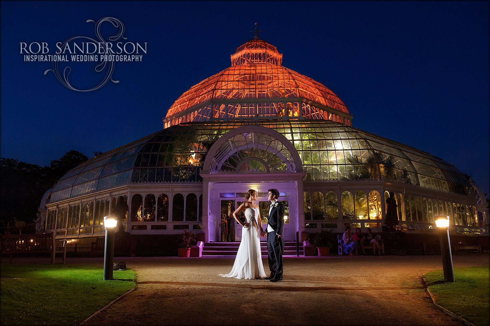 Sefton Park Palm House Liverpool wedding evening
