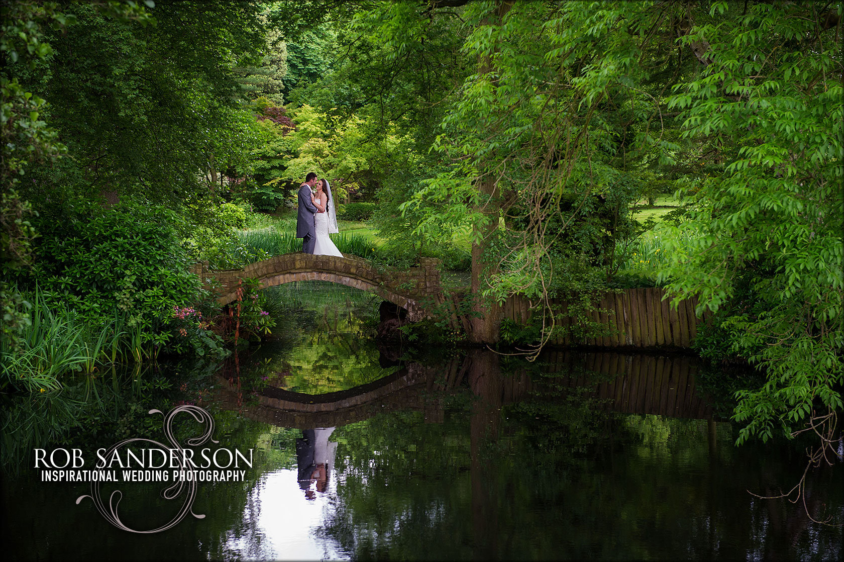 tranquil wedding pic at Colshaw Hall