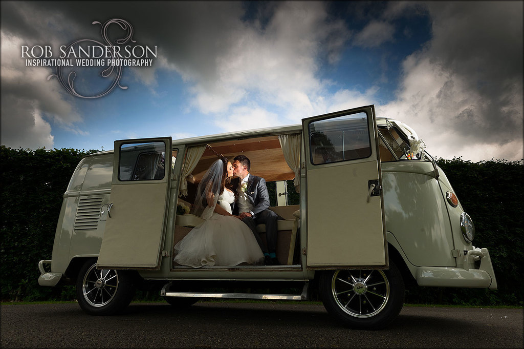Cool VW camper van wedding