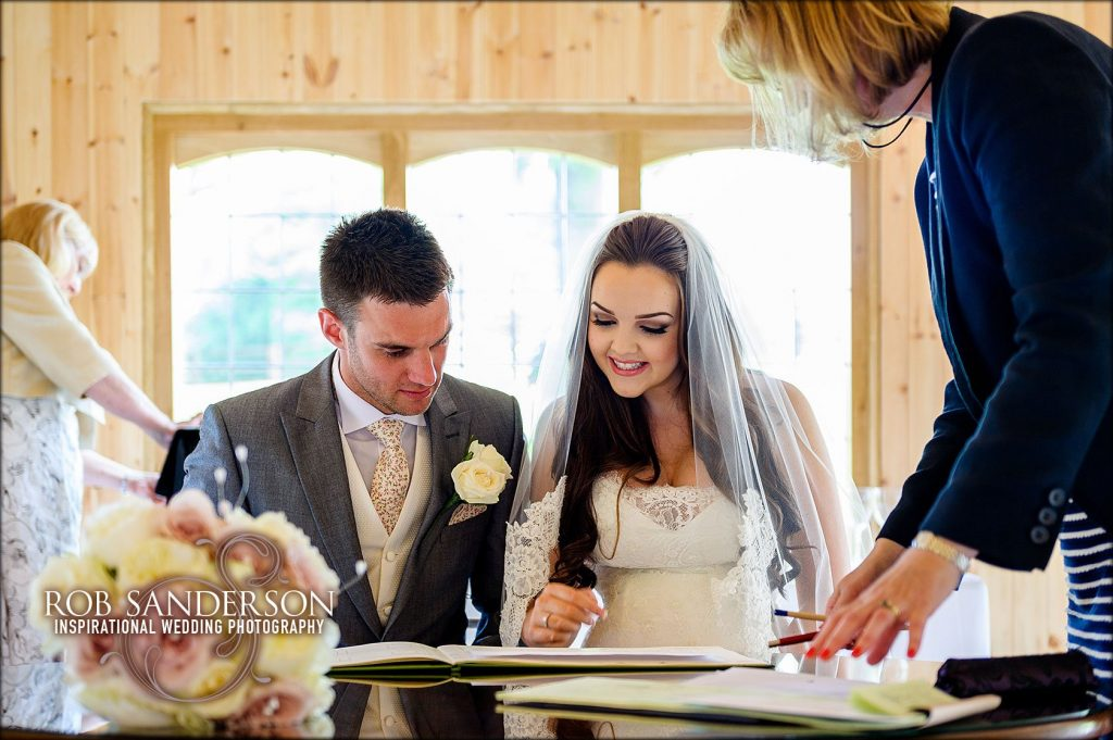 signing the register at the stables, Colshaw Hall