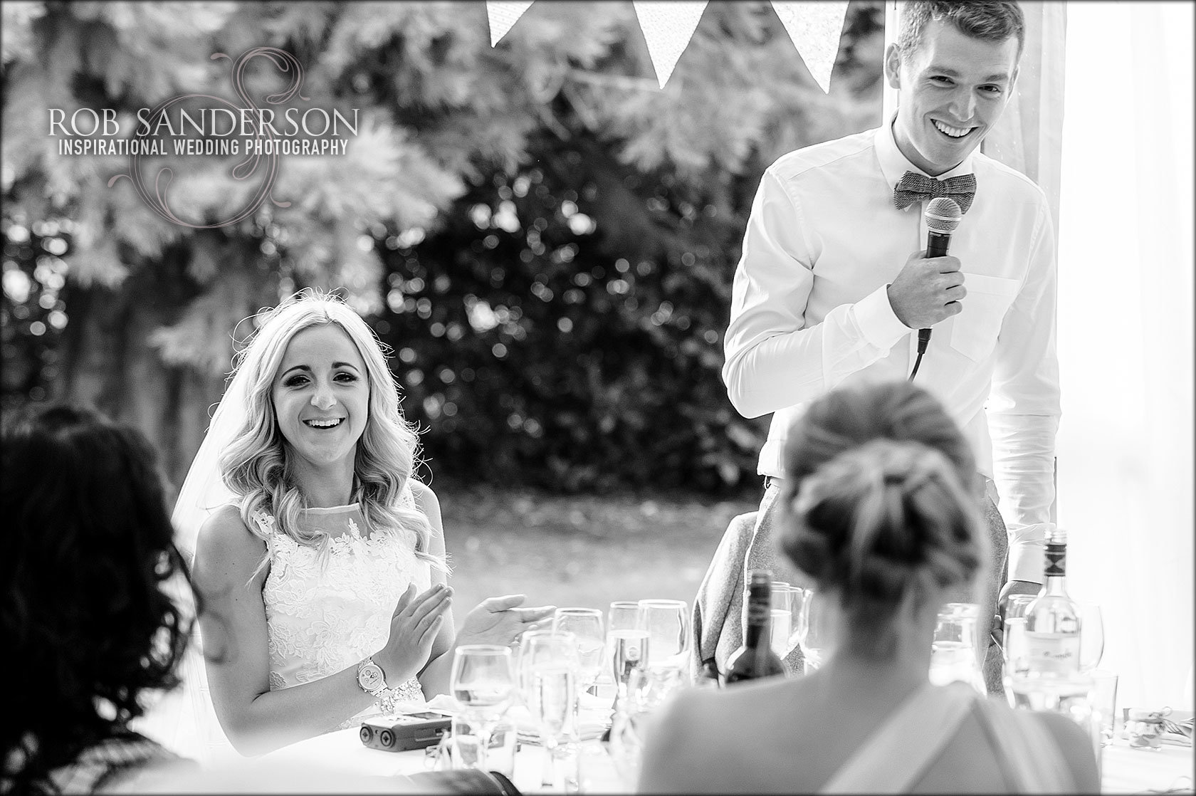 grooms speech at his Soughton Hall wedding