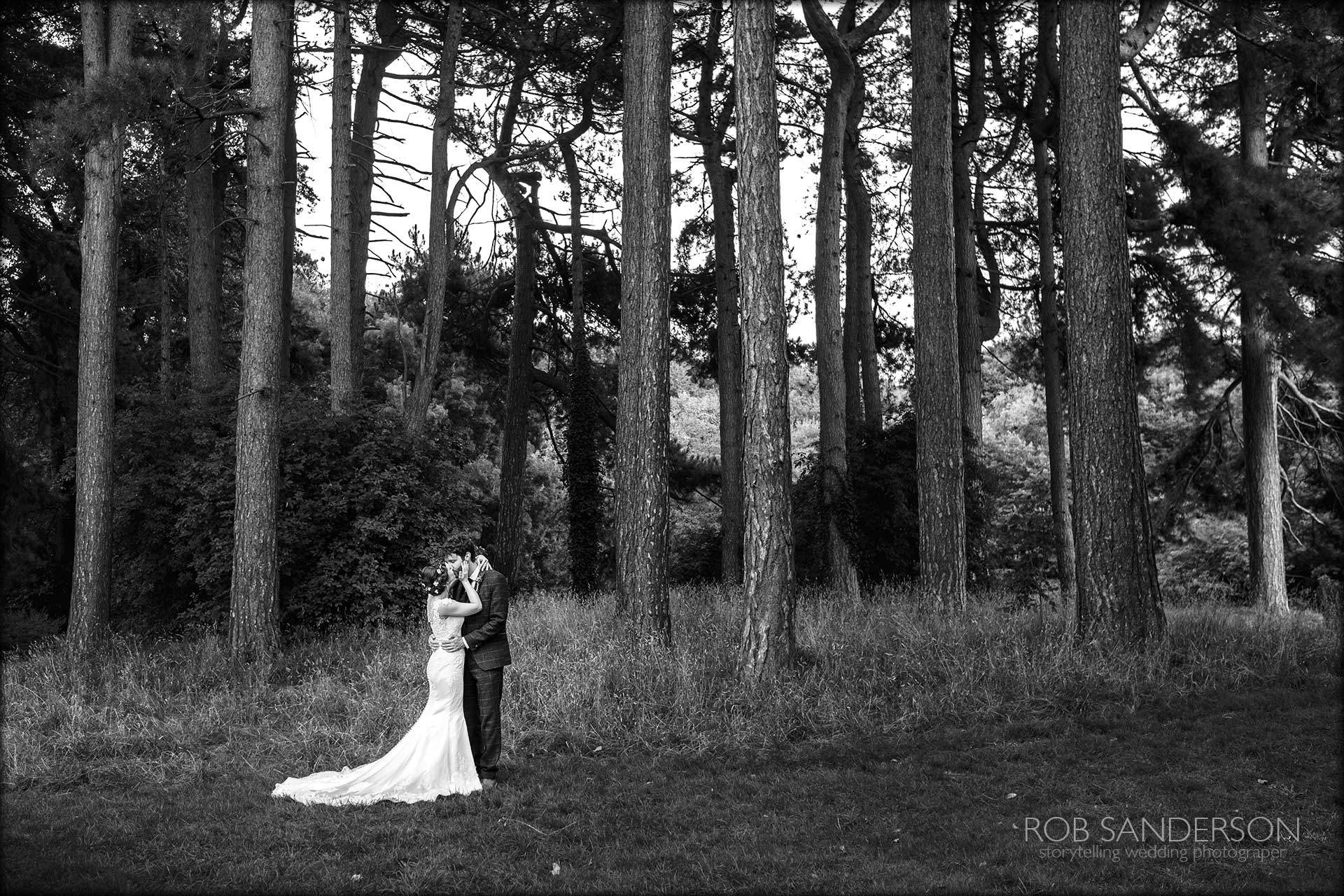 couple in fairy woods in sefton park