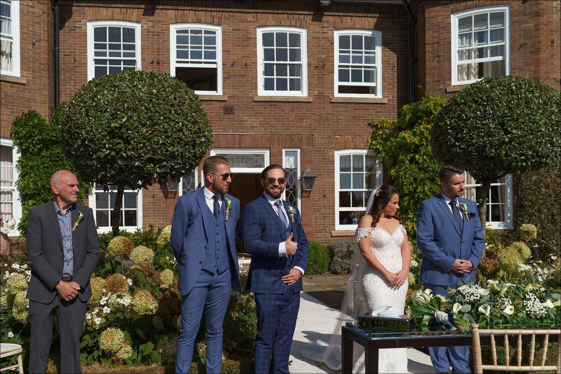outdoor Delamere Manor wedding ceremony