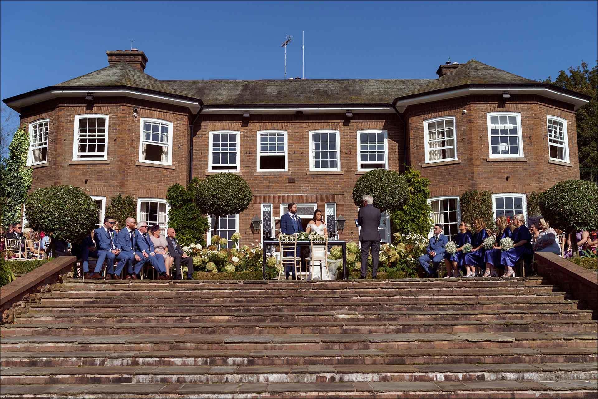 Delamere Manor outdoor wedding ceremony