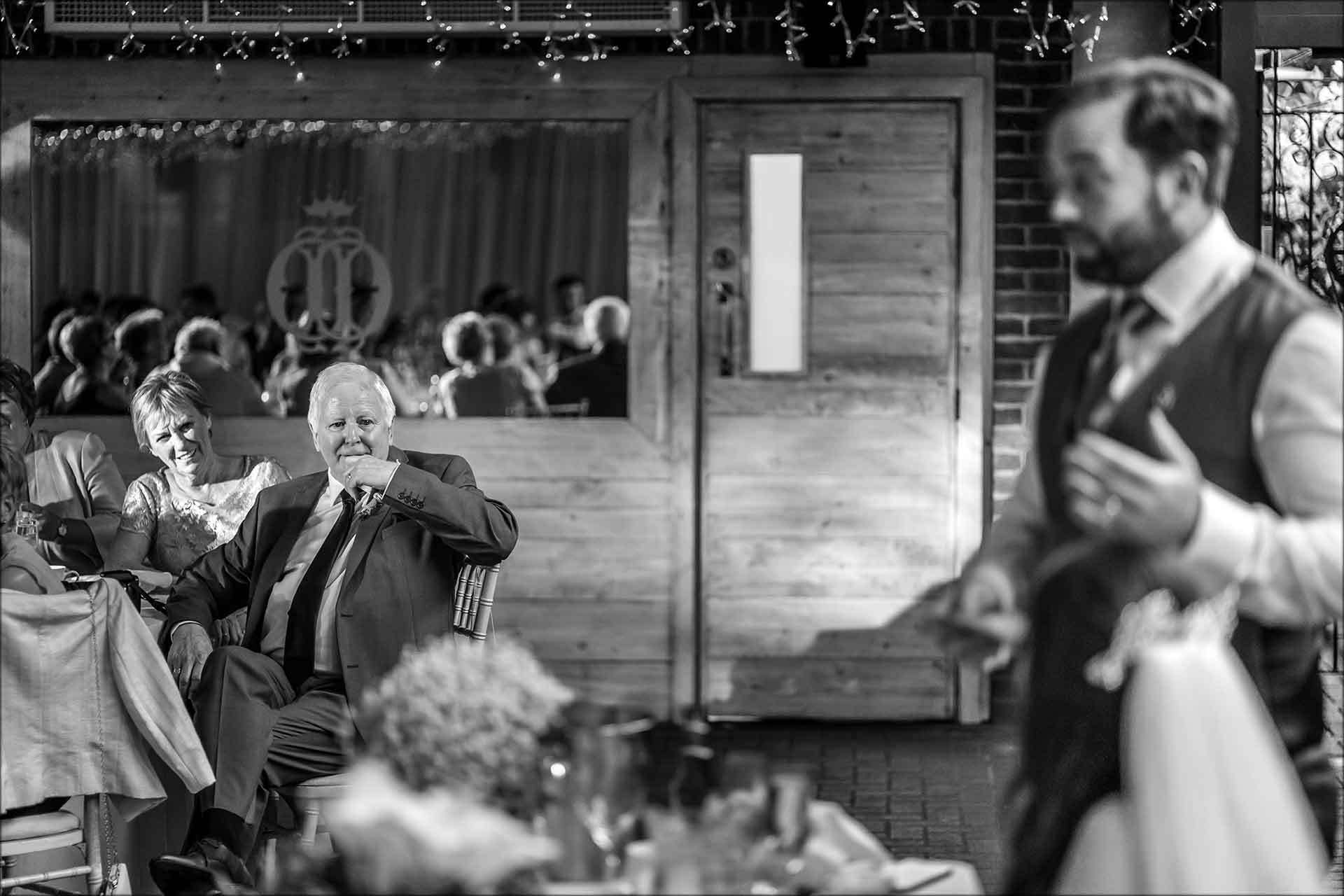 Touching picture of grooms parents when mentioned in his speech