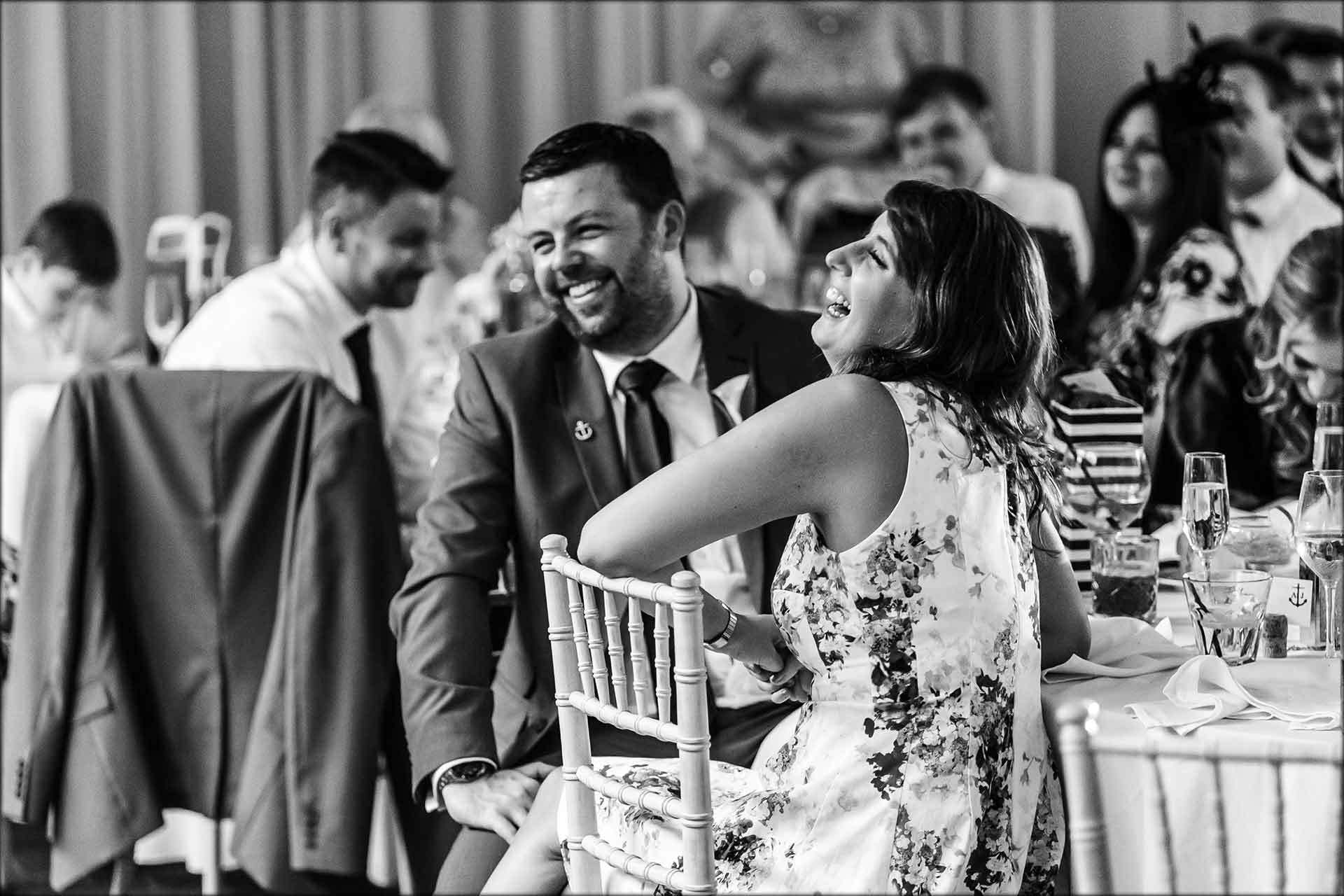 Best mans wedding speech with laughing guests