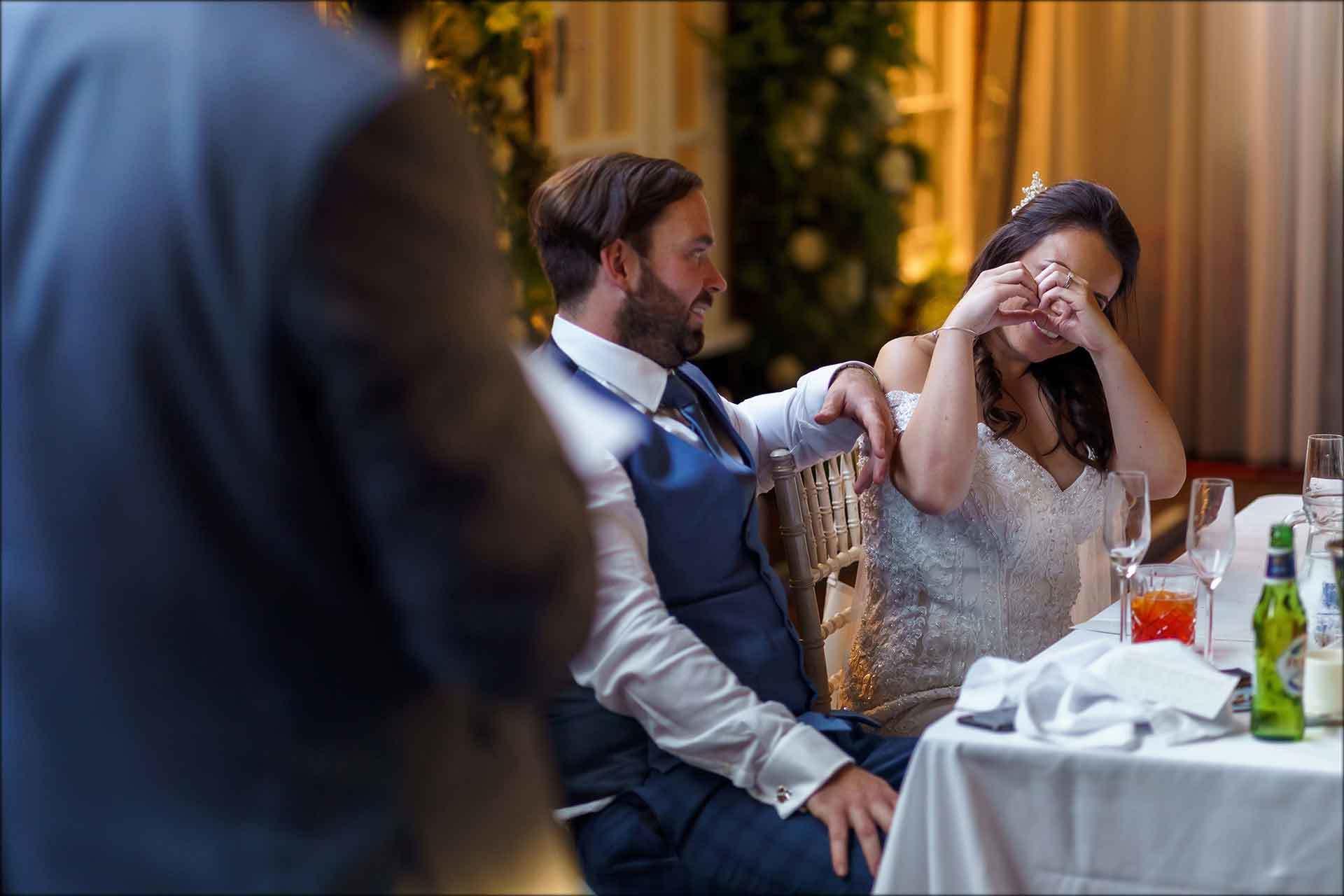 Bride reacts to best man speech
