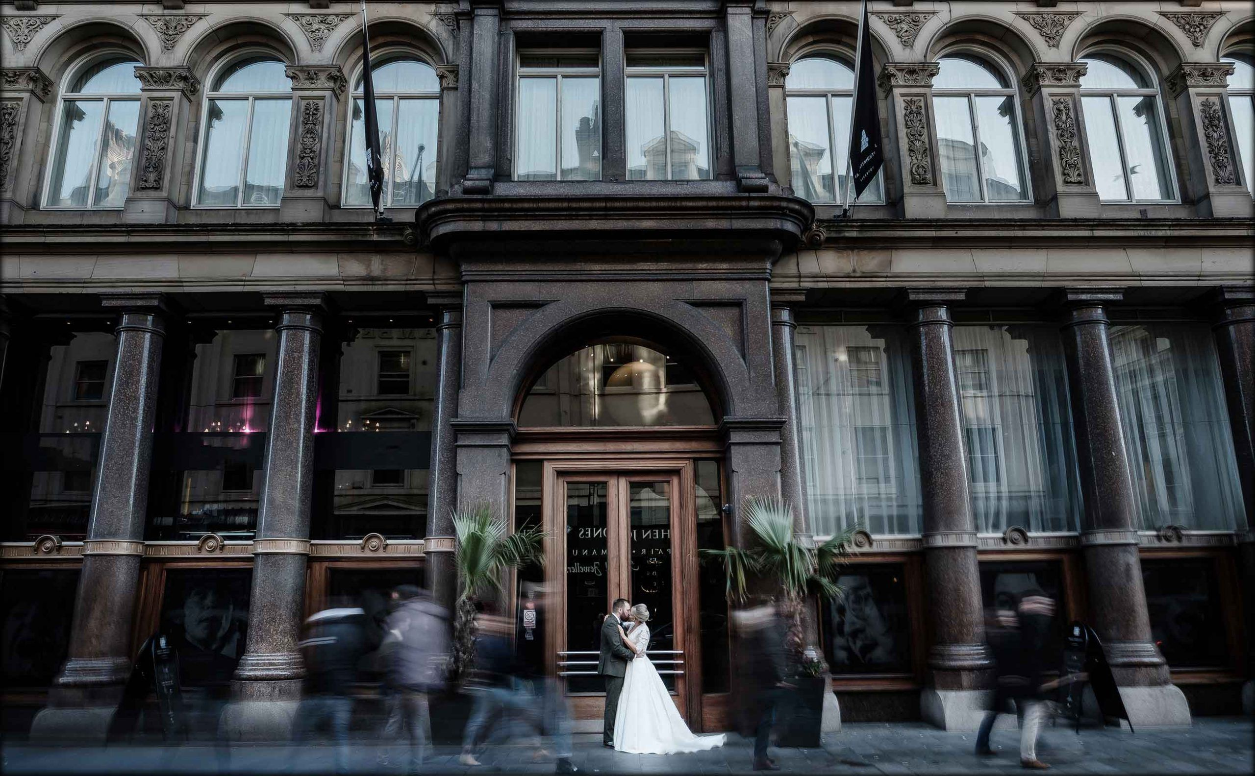 Wedding photography outside Hard Days Night Hotel in Liverpool
